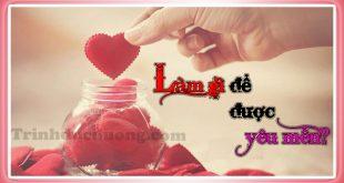 Làm gì để được yêu mến