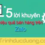 5 lời khuyên tăng hiệu quả bán hàng trên Zalo – Zalo marketing