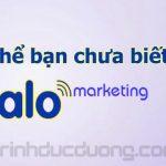 Có thể bạn chưa biết về Zalo marketing – Vai trò của Zalo